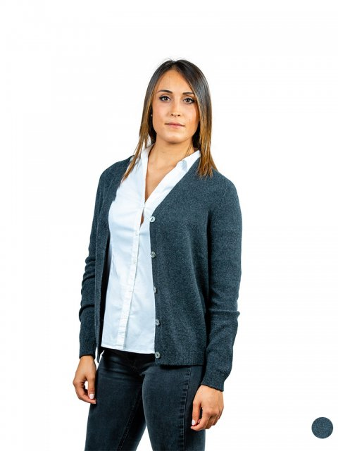 Cardigan Evanescente con Bottoni